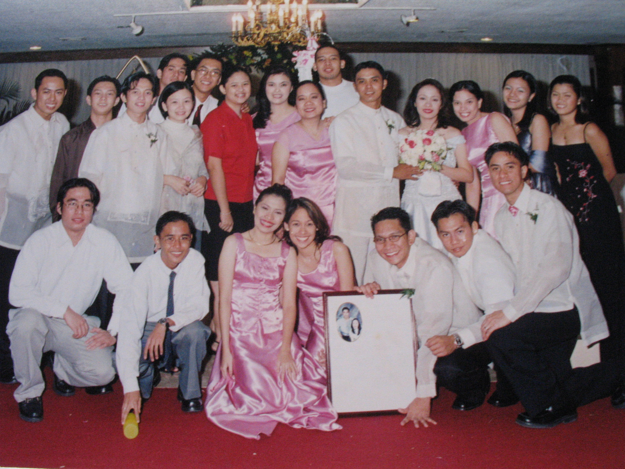 friends at our wedding
