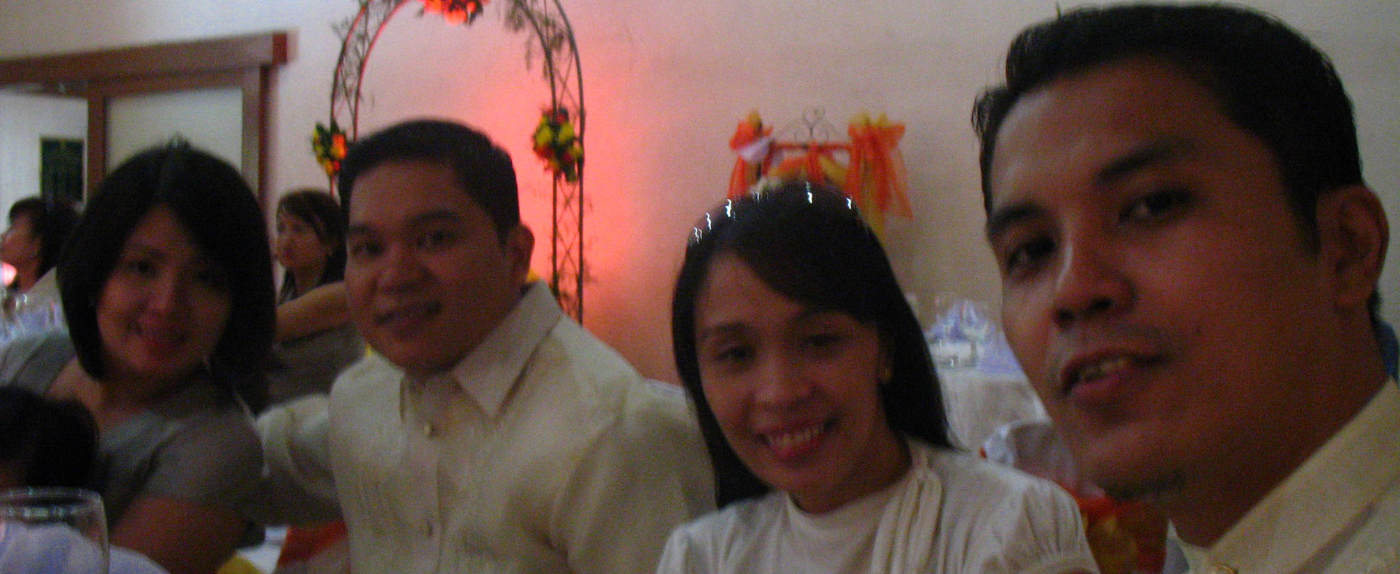 Sheryl, Don Don, Jennie and me at Mandy and Bing's wedding