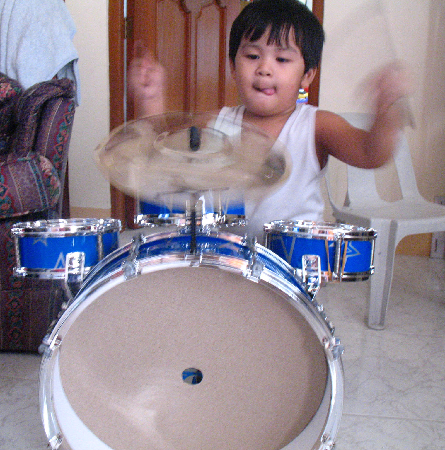 Jed on the drums