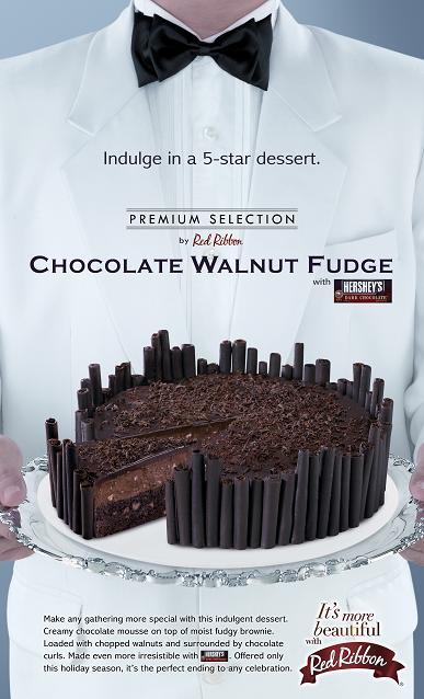chocolate walnut fudge print ad