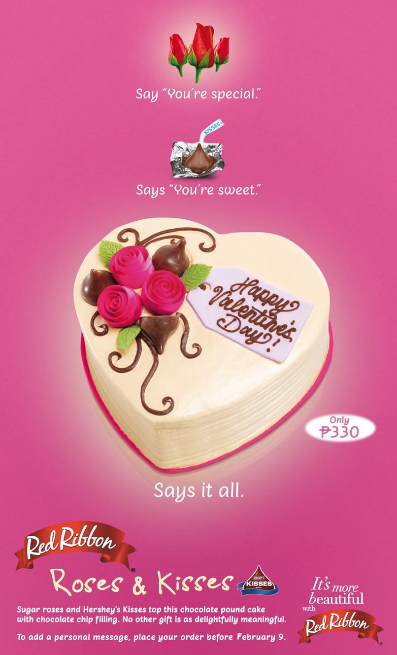 Red Ribbon's Valentine's Day Cake - Roses & Kisses Cake ...