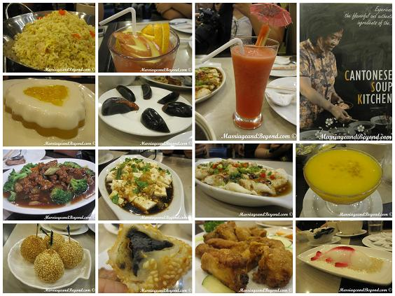 A Few Of The Delectable Food Choices From Cantonese Soup Kitchen