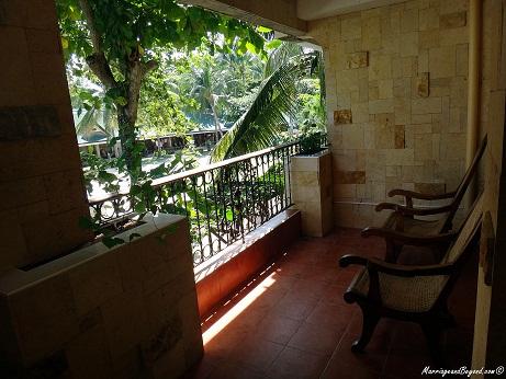 Dumaluan Beach Resort terrace
