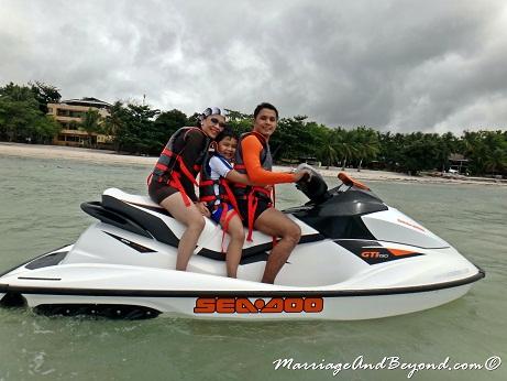 Dumaluan Beach Resort beach waverunner ride