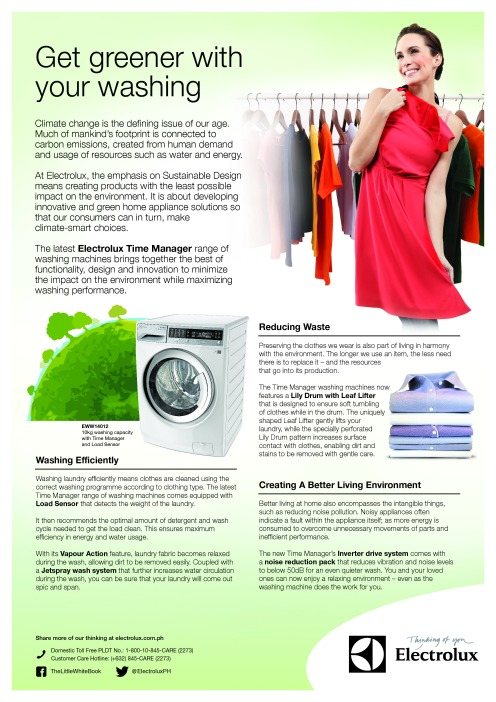 Electrolux - Get greener with your washing