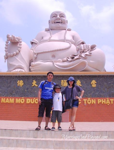 laughing buddha Vinh Trang Pagoda Vietnam