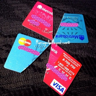 credit cards cut in half