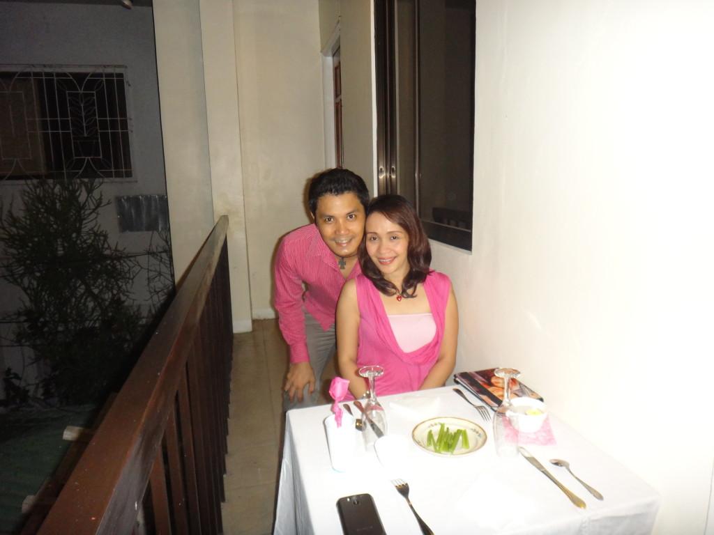 Fine dining on our veranda