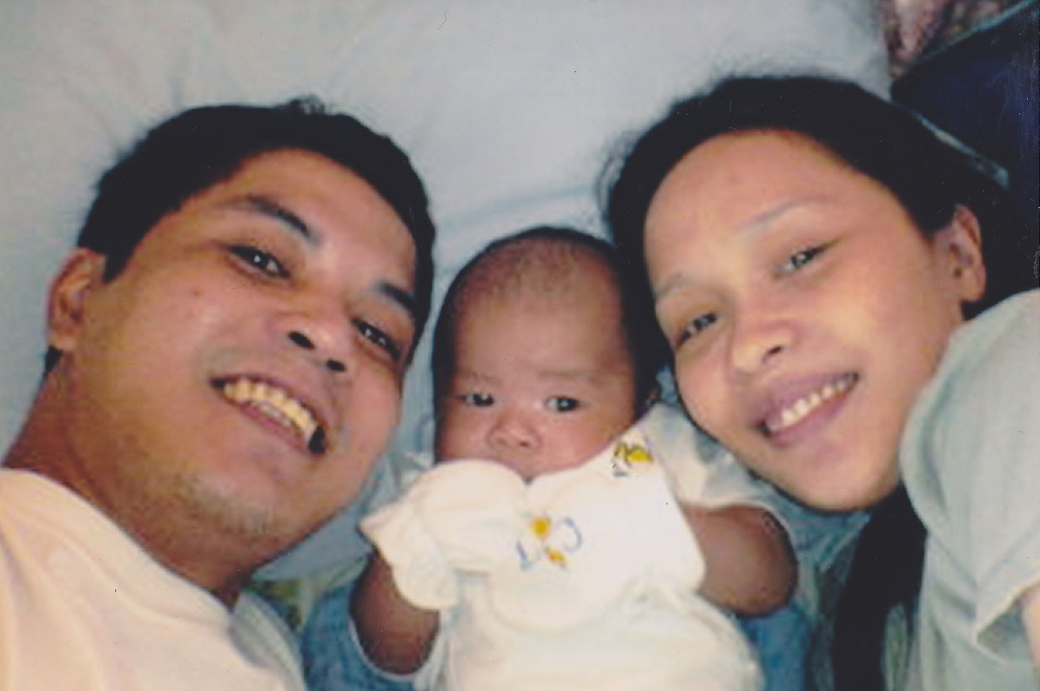 Father and Mother with new baby