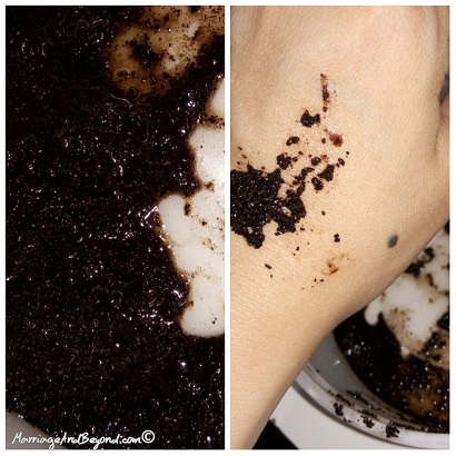 coffee grounds scrub