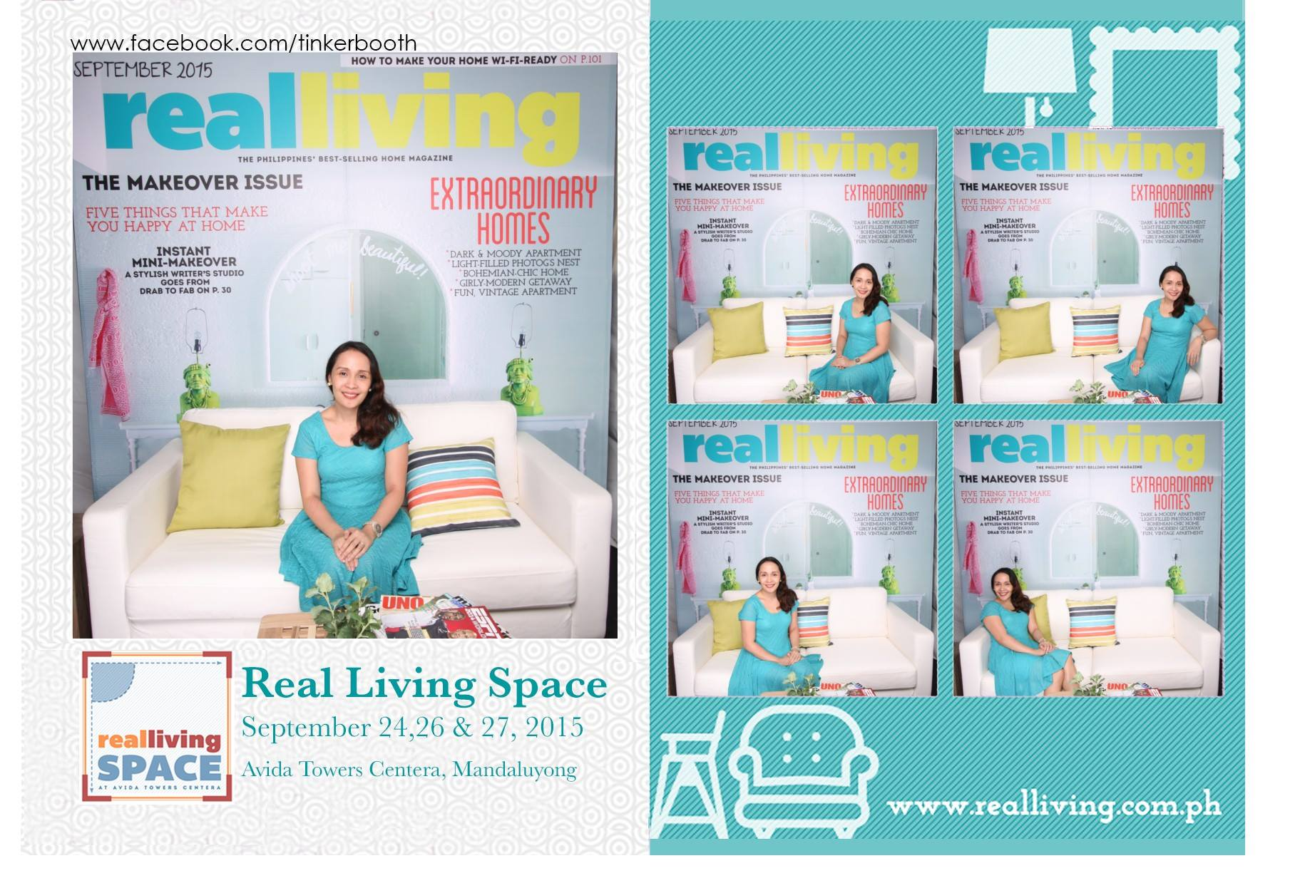 Real Living Spaces photo booth