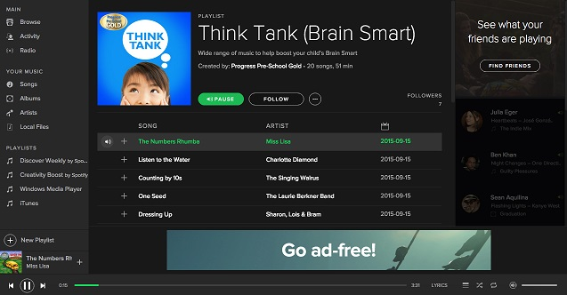 Spotify Playlist Think Tank