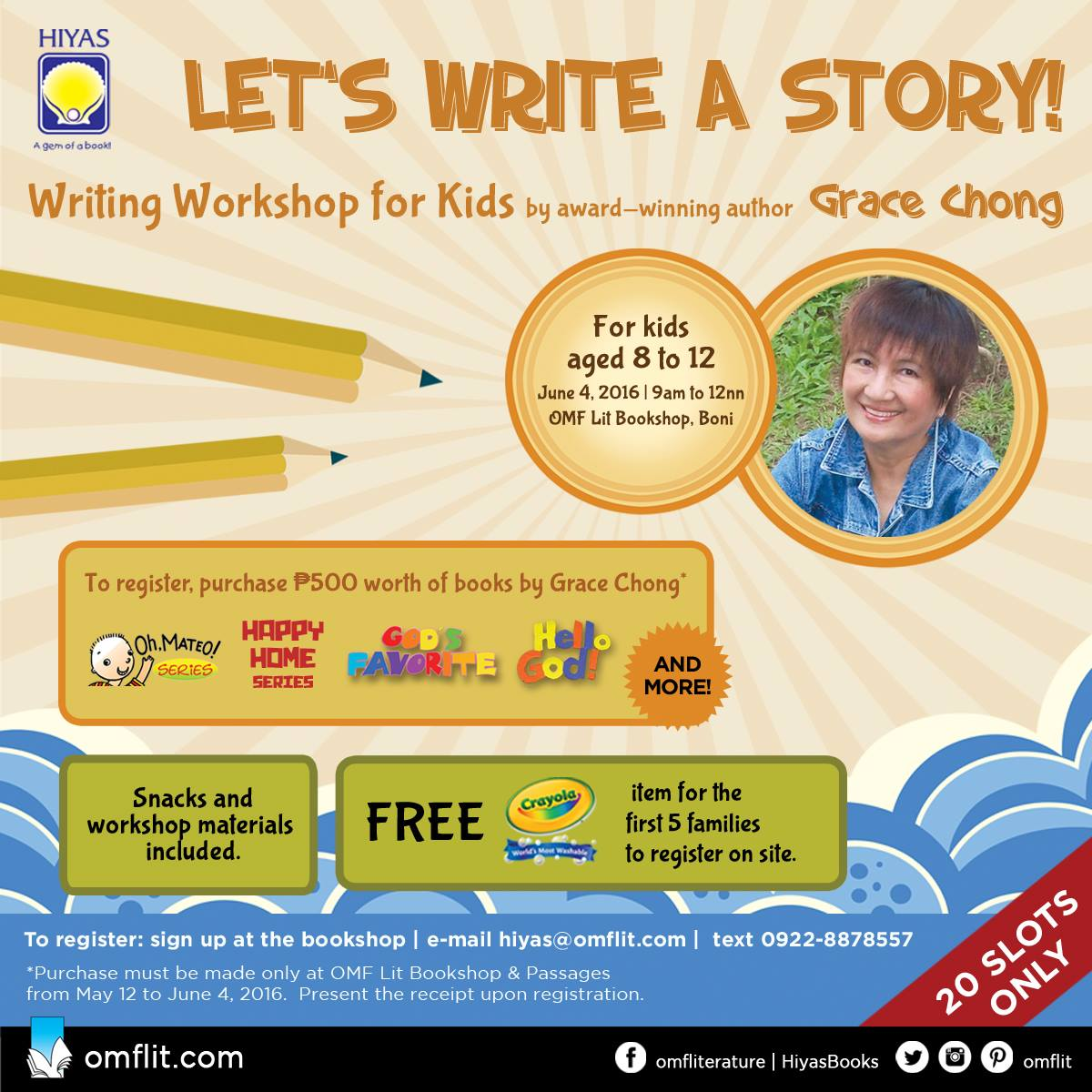Writing Workshop for kids by Grace Chong