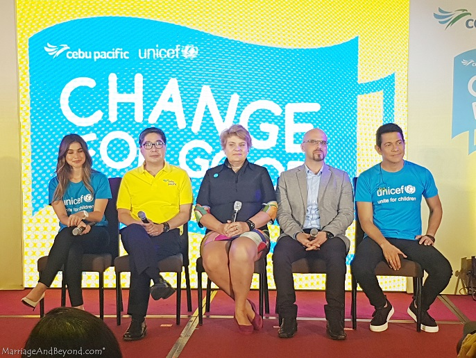 Cebu Pacific and UNICEF Change for Good with ambassadors Anne Curits and Gary Valenciano