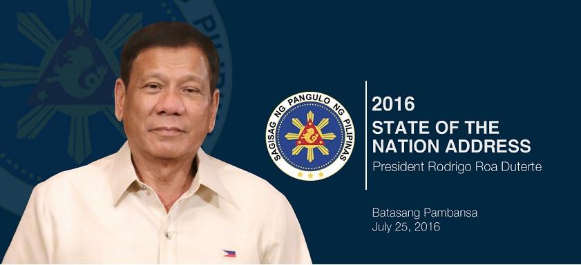 President Duterte SONA 2016