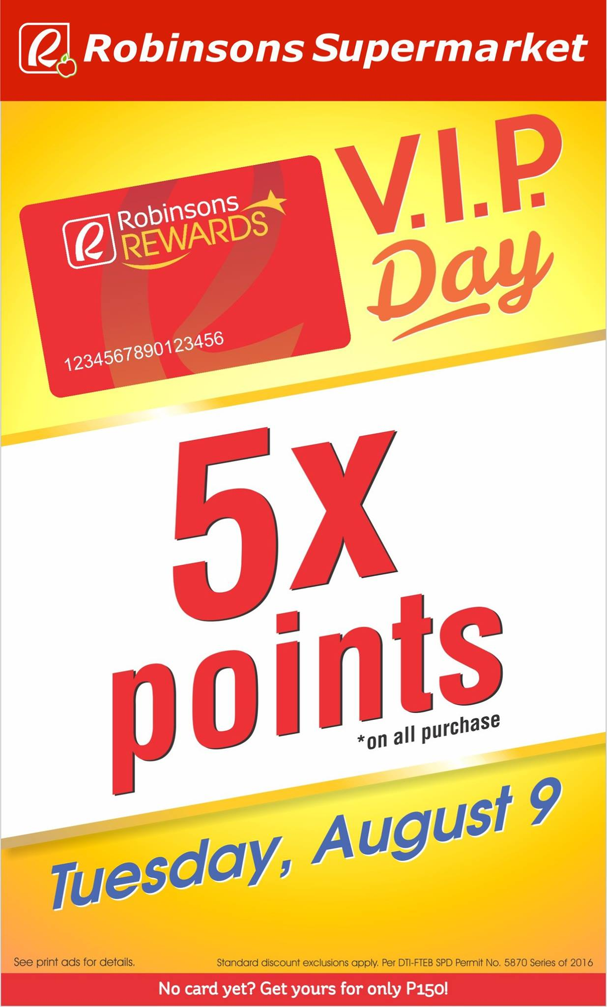 Robinsons Reward 5x points