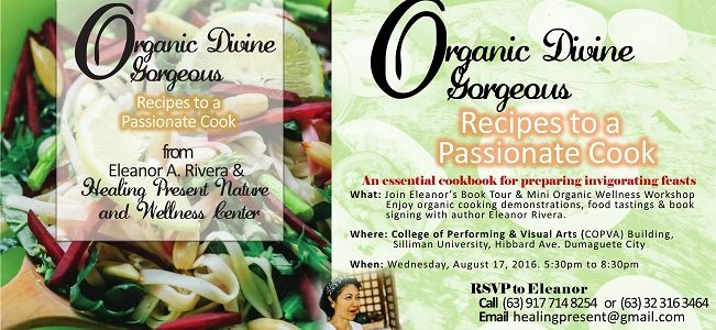 Eleanor Rivera and Healing Present Center Release Long-Awaited Cookbook  #OrganicDivineGorgeous #plantbasedbisaya #organic #plantbased #HealingPresent