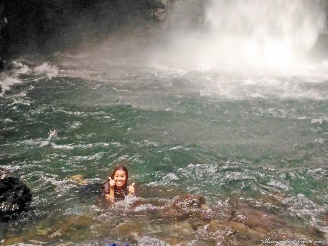 swimming in mother falls baler