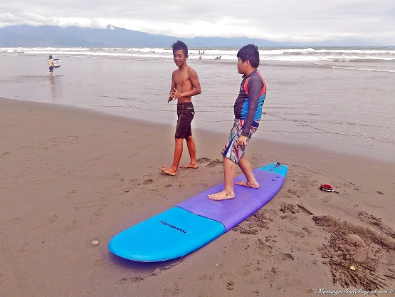 surf instructor in baler