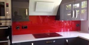 red acrylic splashback simplyplastics