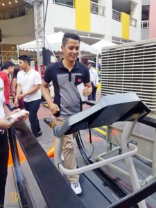 #explorewellness2017 treadmill challenge
