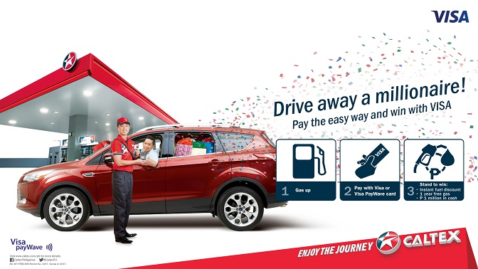 caltex drive away a millionaire promo