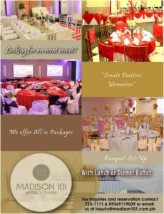 Madison 101 Hotel + Tower events venue