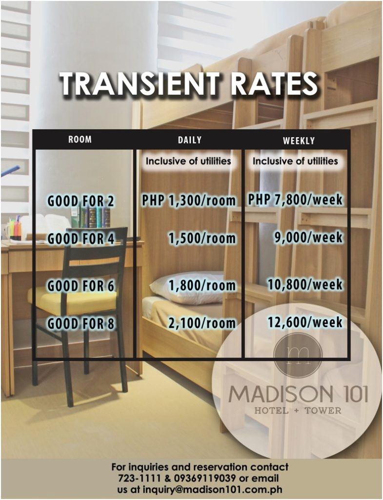 Madison 101 Hotel + Tower transient rate