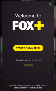 fox movies free trial