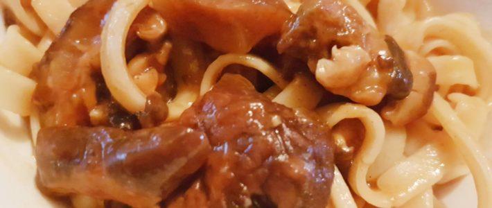 Three Cheese Shitake Mushroom Pasta Recipe