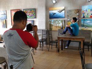 art exhibit shot