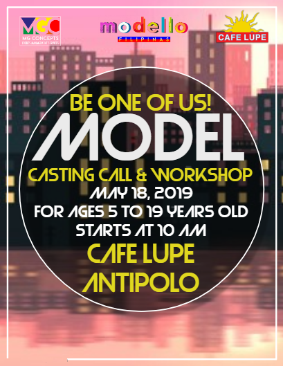 Modello Filipinas Casting Call and Workshop Antipolo Cafe Lupe