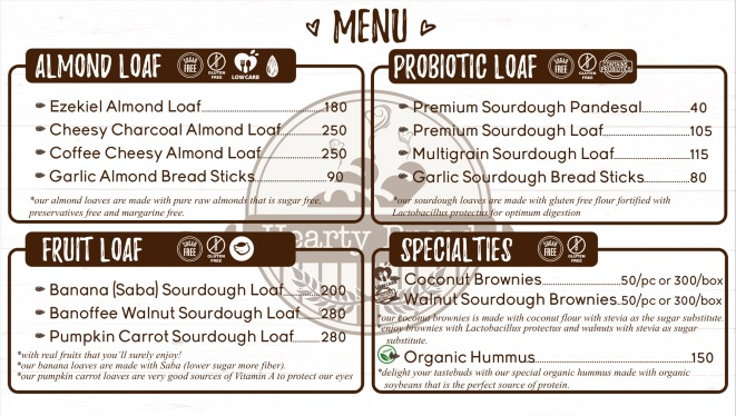 Hearty Bread Menu