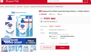 Get up to 30% OFF on P&G Safeguard Products on Shopee this 10.10 Sale