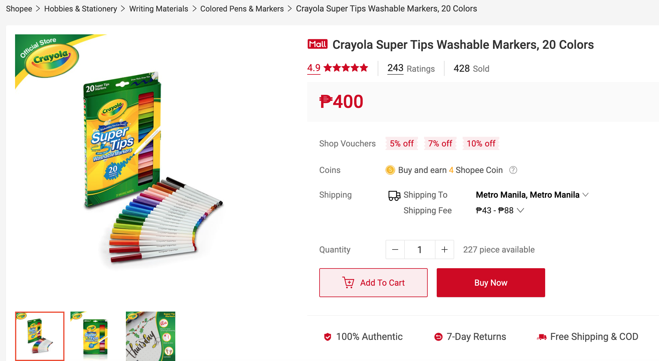 Get up to 50% off on Crayola's grand launch from October 26-November 1 on Shopee